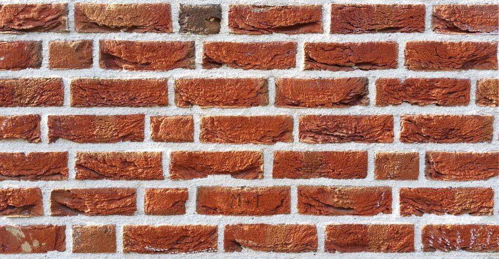 mur avec joints